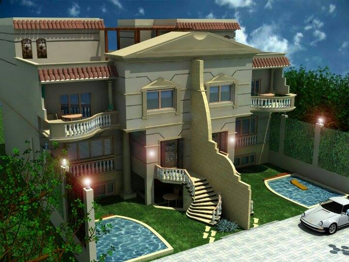 Villa with garden and swimmihg pool in Hurghada